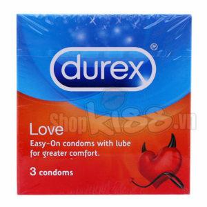 Bao cao su Durex Love kéo dài thời gian LOVE3 được nam giới ưa chuộng sử dụng nhiều nhất