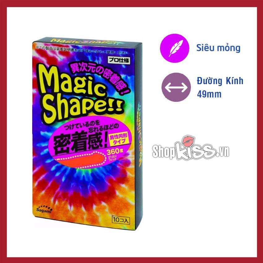 Bao cao su sagami magic shape gân sọc 3d có tính năng chống tuột bao