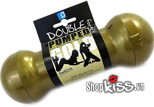 dụng cụ thủ dâm nam âm đạo giả 2 đầu double pumped gold dc17z