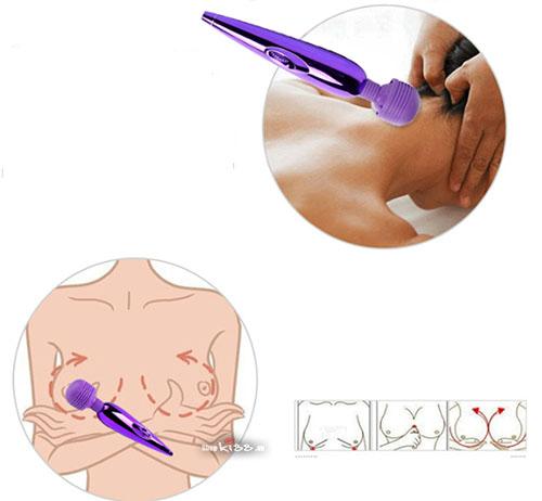 Chày rung massage mini Gold sạc pin AV04 cải thiện vòng một
