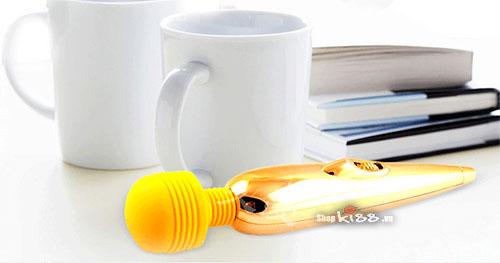 Chày rung massage mini Gold sạc pin AV04 thiết kế sang trọng
