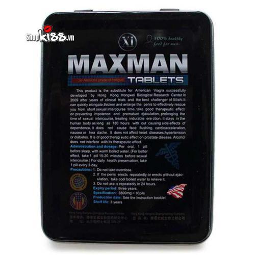 MAXMAN điều trị yếu sinh lý và xuất tinh sớm TC007 giúp điều trị yếu sinh lý ở nam giới