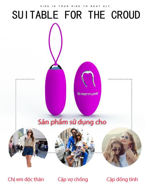 Trứng rung không dây Prettylove Jenny EG30B sử dụng cho các cặp đôi