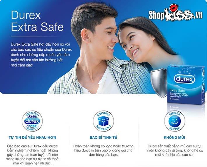 Durex Extra Safe chất lượng tốt