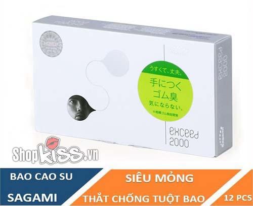 bao cao su sagami exceed 2000 chính hãng mua ở đâu