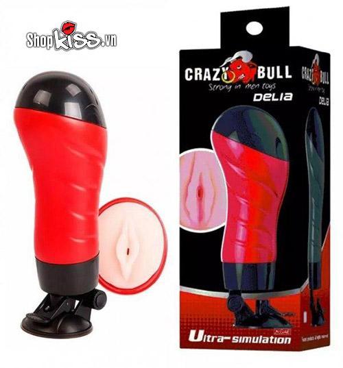 dụng cụ thủ dâm nam âm đạo giả gắn tường rung rên Crazy Bull Delia AD45A
