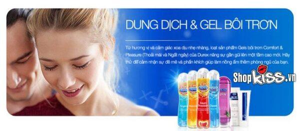 gel bôi trơn âm đạo từ thiên nhiên hỗ trợ tình dục an toàn thoải mái của hãng durex