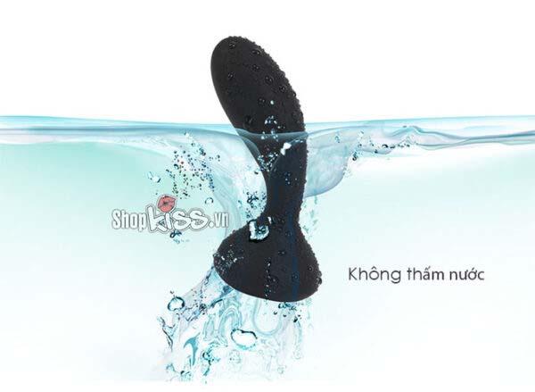 Máy massage hậu môn và điểm G điều khiển xa DC90S không thấm nước nhờ chất liệu silicon.