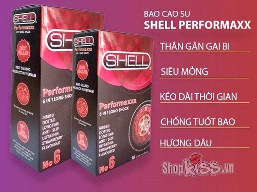 Bao cao su shell 6in1 được nhiều nam giới ưa chuộng