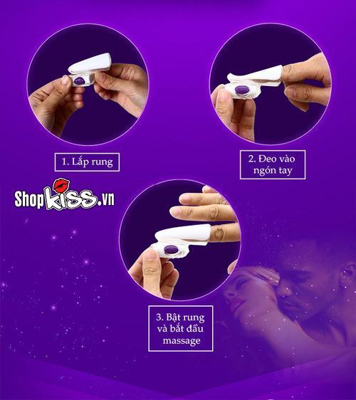 Máy rung đeo ngón tay Durex Play Finger MS25G cách sử dụng.