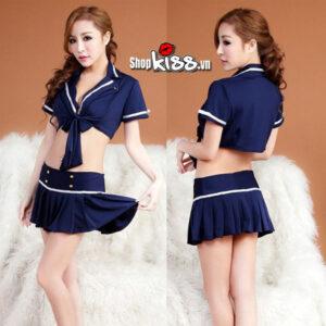 cosplay sexy đồng phục cosplay cảnh sát ny35 màu xanh