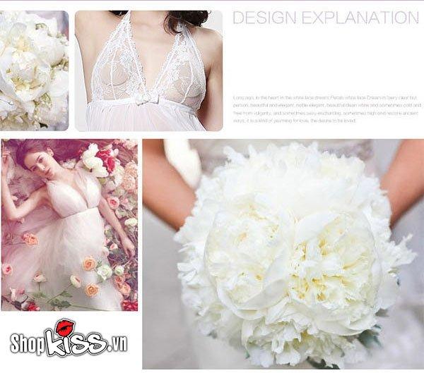 shop bán thời trang sexy váy ngủ voan trắng gợi cảm ny12 tại tphcm