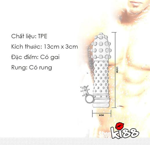 BCS dên gai size bé massage kích thích hột le DC14A thông tin chi tiết sản phẩm