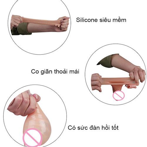 BCS dên Leten size nhỏ massage kích thích âm đạo BD41 được cấu tạo từ silicon cao cấp an toàn khi sử dụng