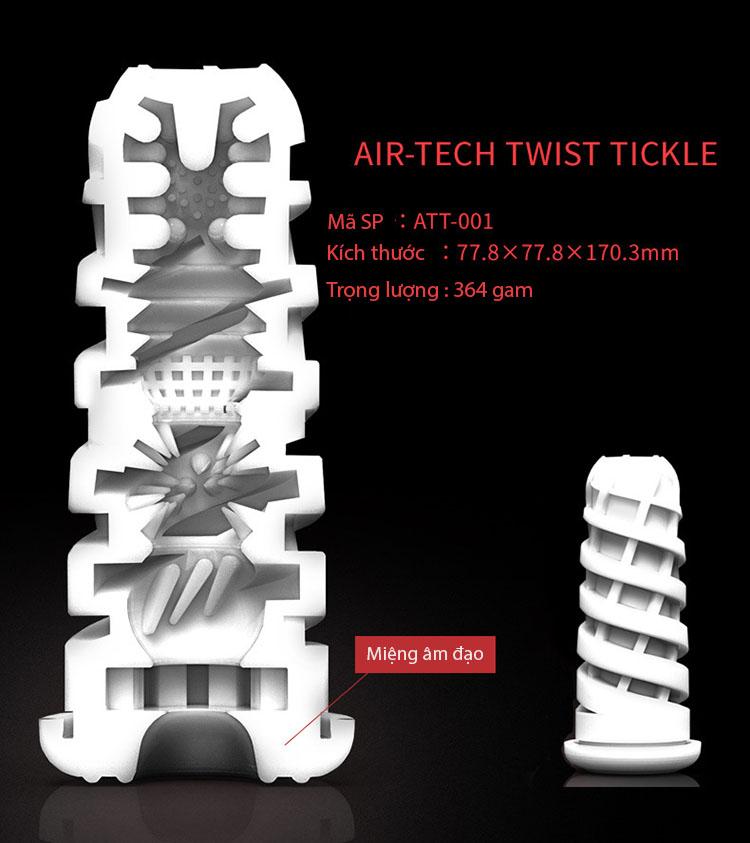 Cốc thủ dâm cao cấp Tenga Air-tech Twist DC13D cấu tạo