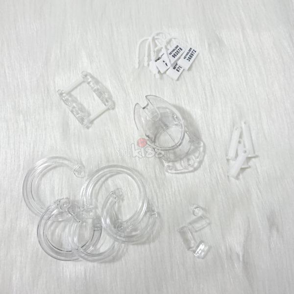 Khóa dương vật bằng nhựa trong suốt BZ12A dụng cụ bao dâm