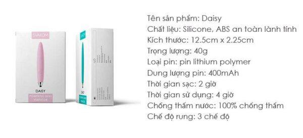 Thanh Rung Mini Nhỏ Xinh Svakom Daisy DC90A thông tin sản phẩm