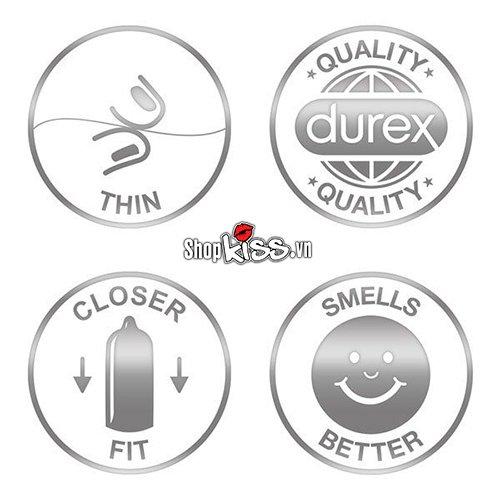 Bao cao su Durex Invisible Extra Thin Extra Lubricated DR25 chính hãng tại tphcm