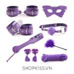 bộ đồ chơi phòng the 8 món màu tím quyến rũ QT05 giá rẻ tại hcm