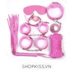bộ đồ chơi phòng the 7 món màu hồng QT06 mua ở đâu
