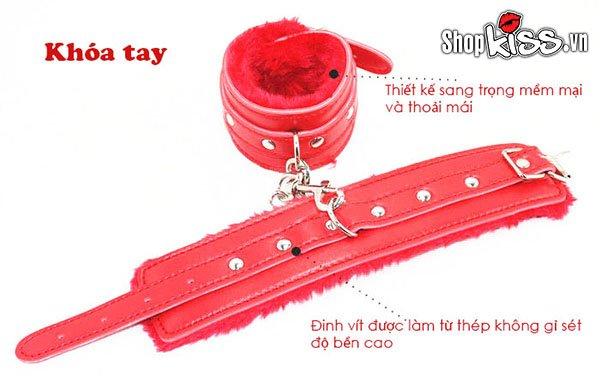 Bộ đồ chơi bạo dâm 7 món da đỏ QT07 tại tphcm