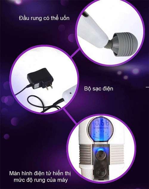 Chày rung Louge siêu khỏe điều chỉnh cảm ứng màn hình LCD tại shopkiss
