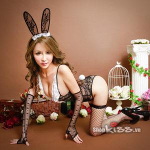 bộ đồ ngủ cosplay nàng thỏ đen đẹp gợi cảmTT05 mua tại HCM