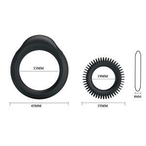 Bộ vòng đeo dương vật Ring Manhood DC70K kích thước của vòng