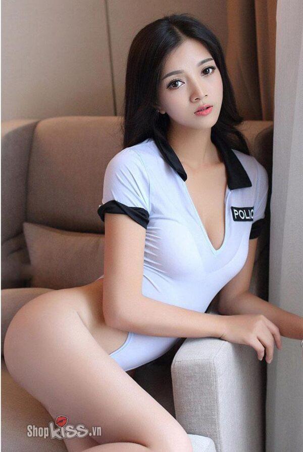 Đồ cosplay nữ cảnh sát NY39 đồ ngủ gợi dục phái mạnh