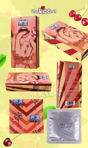 Bao cao su quan hệ bằng miệng hương cherry CD04A giá bao nhiêu