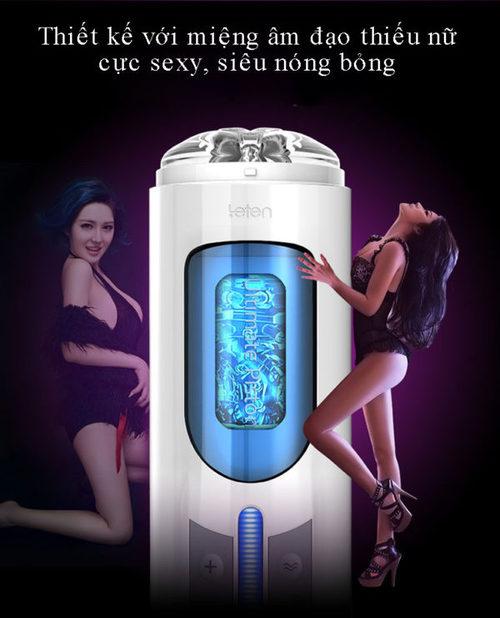 Thủ dâm bằng máy tự động kích thích dương vật sướng tê tái