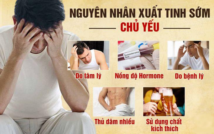 Nguyên nhân tình trạng xuất tinh sớm ở đàn ông việt