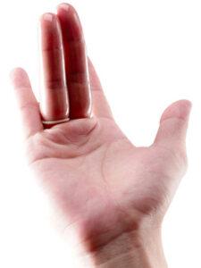bao cao su ngón tay