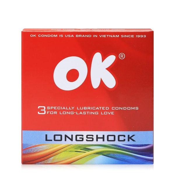 Top 3 bao cao su OK được yêu thích nhất là bao Longshock
