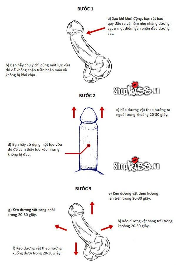 Cách tăng kích thước dương vật bằng tay kiểu Ultimate Stretch