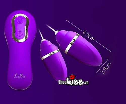 Máy massage âm đạo dành cho Les 2 đầu siêu sướng EG33F kích thước của máy