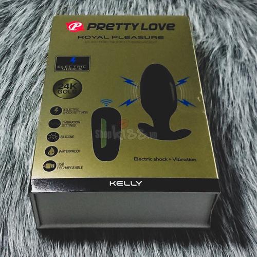 Dụng cụ xung điện hậu môn Pretty Love Kelly HM02G dành cho đồng tính nam thích BDSM