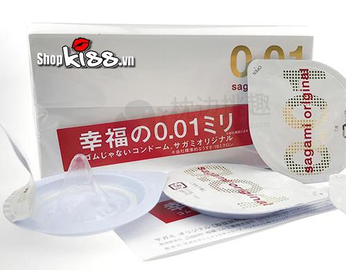 bao cao su mỏng nhất thế giới Sagami original 0.01 bán tại shopkiss.vn