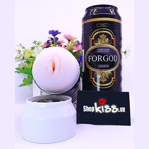 Cốc thủ dâm ngụy trang lon bia có rung ForGod ad41a giấ rẻ tại tphcm