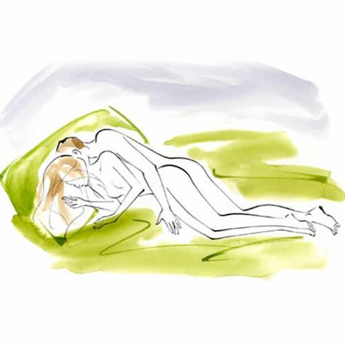 tư thế úp thìa trong các tư thế quan hệ tình dục