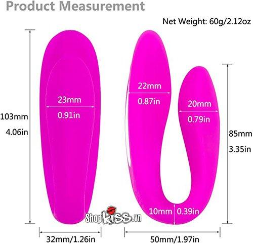 kích thước của trứng rung tình yêu điều khiển từ xa EG30N