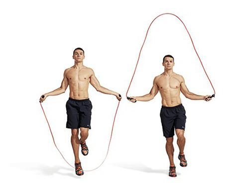 nhảy dây kiểu 1 chân