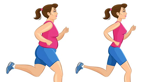 chạy bộ kết hợp chê độ ăn giảm cân rất hiệu quả