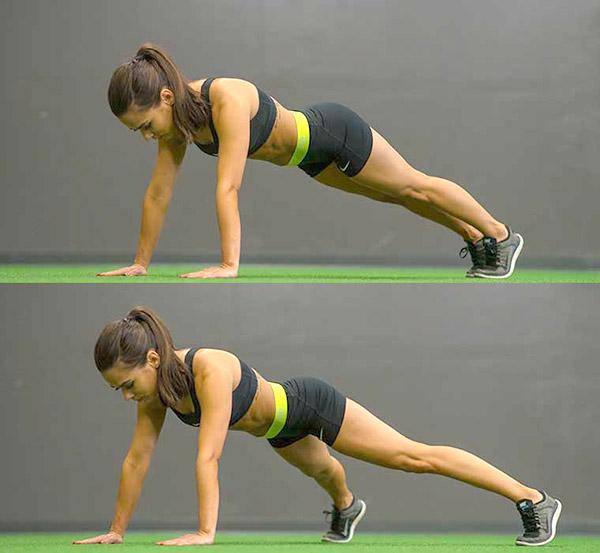 tập plank jacks giảm mở bụng hiệu quả