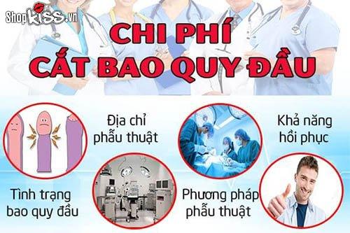 Chi phí cắt bao quy đầu tại Hà Nội và tp Hồ Chí Minh