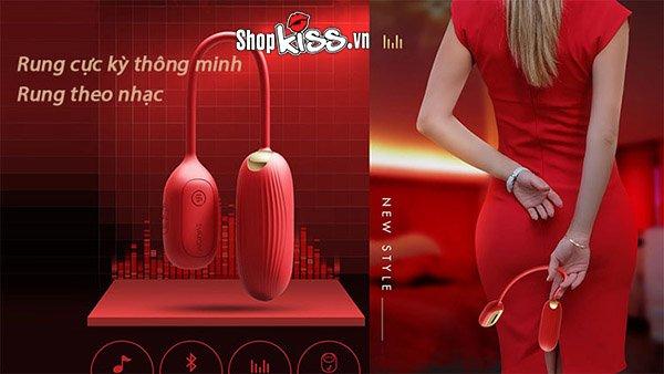 đồ chơi cho nữ cao cấp chính hãng của Mỹ trứng rung thông minh 2 đầu svakom muse refurbished