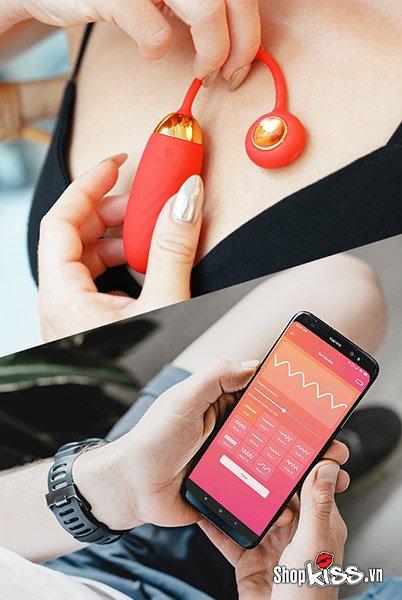 trứng rung thông minh Svakom Ella Neo Refurbished kết nối smartphone điều khiển từ xa thông qua internet