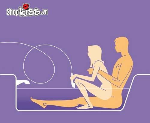 Các tư thế quan hệ trong nhà tắm siêu kích thích