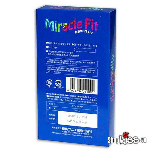 Bao cao su size nhỏ Sagami Miracle Fit MI10 giá bao nhiêu