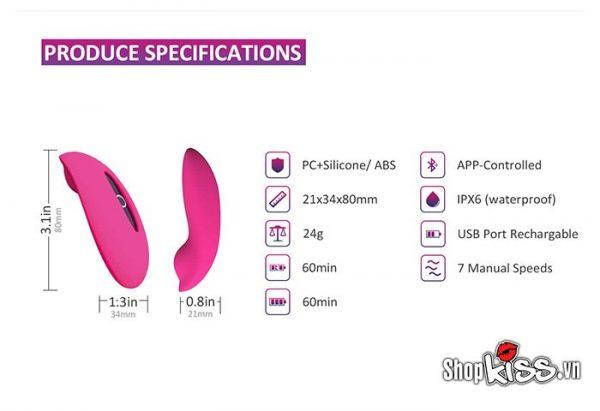 Chức năng của bộ vòng đeo dương vật và trứng rung gắn quần lót nữ DC82 dành cho nữ